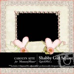 Shabby Girl Square QuickMix-$3.99 (Carolyn Kite)