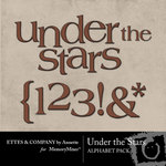 Under The Stars Alphabet Pack-$1.00 (Ettes and Company by Annette)