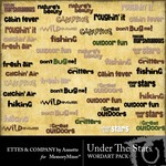 Under The Stars WordArt Pack-$1.99 (Ettes and Company by Annette)
