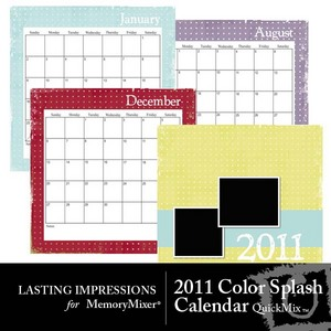 2011 color splash calendar medium
