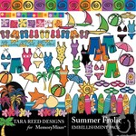 Summer Frolic Embellishment Pack-$2.99 (Tara Reed Designs)