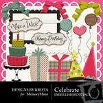 Celebrate Embellishment Pack-$3.00 (Designs by Krista)
