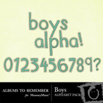Boys Alphabet Pack-$1.00 (Albums to Remember)