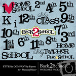 Back 2 School WordArt Pack-$1.50 (Ettes and Company by Fayette)