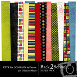 Back 2 School Paper Pack-$4.00 (Ettes and Company by Fayette)
