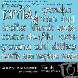 Family wordart medium