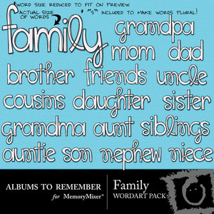 Family wordart medium
