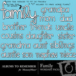 Family WordArt-$1.50 (Albums to Remember)