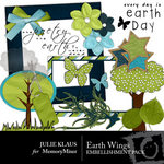 Earth Wings Embellishment Pack-$3.00 (Julie Klaus)