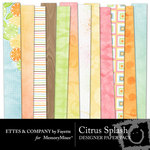 Citrus Splash Paper Pack-$4.00 (Ettes and Company by Fayette)