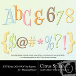 Citrus Splash Alphabet Pack-$1.00 (Ettes and Company by Fayette)