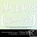 Citrus Splash White Alphabet Pack-$1.00 (Ettes and Company by Fayette)
