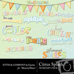 Citrus Splash WordArt Pack-$1.99 (Fayette Designs)