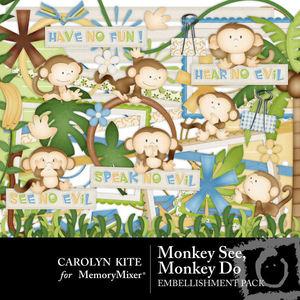 Monkey see monkey do emb medium