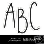 Black Alphabet Pack-$1.00 (Julie Klaus)