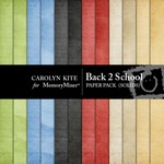 Back to School Solid Paper Pack-$2.40 (Carolyn Kite)