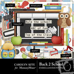Back to School Embellishment Pack-$2.99 (Carolyn Kite)