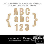 Everyday Chipboard Alphabet Pack-$1.00 (Carolyn Kite)