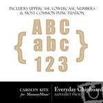 Everyday Chipboard Alphabet Pack-$0.60 (Carolyn Kite)