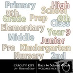 Back to School Word Pack-$2.49 (Carolyn Kite)