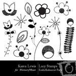 Lucy Garden Stamps Embellishment Pack-$1.99 (Karen Lewis)