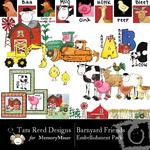 Barnyard Friends TR Embellishment Pack-$3.00 (Tara Reed Designs)