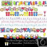 Peace and Love Embellishment Pack-$3.00 (Tara Reed Designs)