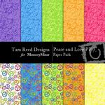 Peace and Love Paper Pack 3-$3.00 (Tara Reed Designs)