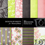 Blossom Paper Pack-$4.00 (Designs by Krista)