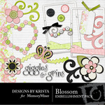 Blossom Embellishment Pack-$3.00 (Designs by Krista)