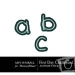 First Day Chalkboard Alphabet-$1.00 (Amy Sumrall)