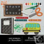 First Day Embellishment Pack-$2.49 (Amy Sumrall)