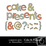 Cake and Presents Alphabet Pack-$2.99 (Carolyn Kite)