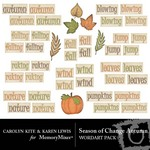 Season of Change Autumn WordArt-$1.49 (Karen Lewis)
