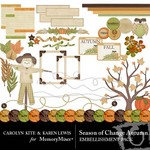 Season of Change Autumn Embellishment Pack-$2.99 (Karen Lewis)