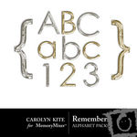 Remember Alphabet Pack 1-$1.00 (Carolyn Kite)