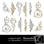 Remember Embellishment Pack 2-$1.25 (Carolyn Kite)