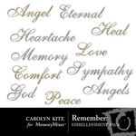 Remember WordArt Pack-$2.49 (Carolyn Kite)