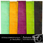 Autumn Breeze Textured Paper Pack-$2.50 (Ettes and Company by Fayette)