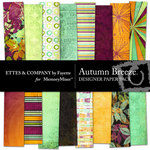 Autumn Breeze Paper Pack-$4.00 (Ettes and Company by Fayette)