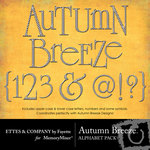 Autumn Breeze Alphabet Pack-$1.00 (Ettes and Company by Fayette)