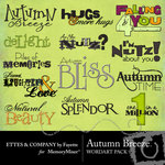 Autumn Breeze WordArt Pack-$1.99 (Ettes and Company by Fayette)