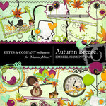 Autumn Breeze Embellishment Pack-$3.50 (Ettes and Company by Fayette)