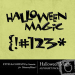 Halloween Magic Alphabet Pack-$1.00 (Ettes and Company by Annette)