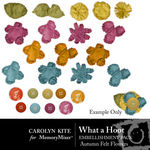 What a Hoot Felt Flowers Pack-$2.49 (Carolyn Kite)
