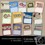 2011 Calendar Ettes-$6.50 (Ettes and Company by Annette)