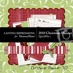 2010 Christmas Planner QuickMix-$5.00 (Lasting Impressions)