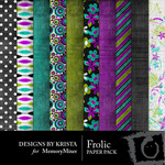 Frolic Paper Pack-$4.00 (Designs by Krista)