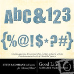 Good Life Denim Alphabet Pack-$1.00 (Ettes and Company by Fayette)