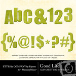 Good Life Green Alphabet Pack-$1.00 (Ettes and Company by Fayette)